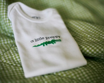 SALE A Little Preppy Baby Bodysuit (sizes newborn to 24 months)