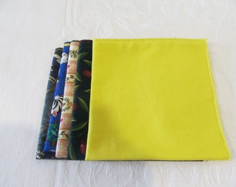 Cloth Napkins Luncheon size Set of 5  #9