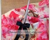 Romantic Burlap Wedding Guestbook Pen...You Choose Colors.... shown in natural/black