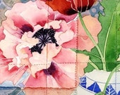 Poppies: Gabby Malpas watercolour C6 greeting card and envelope