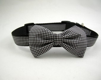 Boy Dog Collar with Bow Tie