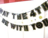 MAY The 4TH Be WITH YOU Banner, Star Wars Day Banner, Star Wars Day Decor, Star Wars Day Party Banner, May the 4th Party, May The