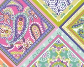 Paisleigh Handkerchief Multi Blend Fabrics Cotton Bandana 1 yard - Cotton Quilt Fabric - Bandana Print Fabric - Hankie Fabric