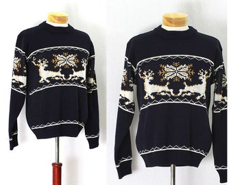 Vintage 70s Weekend at The Cabin Mens Sweater