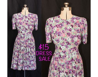 SALE! Vintage Bouquet of Sweetness 80s Dress