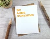 Orange Sunshine Anniversary Card