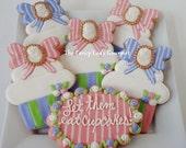 Marie Antoinette cupcake cookies gift box 13 cookies