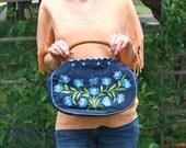 Vintage Embroidered Denim Handbag
