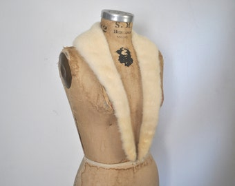 BLONDE Mink Fur Collar / wedding bridal