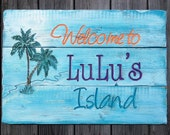 Personalized Beach House, Coastal , Cottage, and Nautical signs - Hand routed, carved, and painted.