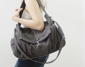 Mother's Day SALE - 20% OFF Classic in Dark Gray / Messenger / diapers bag / Crossbody / Hobo / Shoulder / Handbags / women / For her