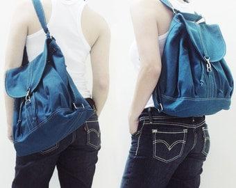 Backpack, Shoulder Bag, Tote Bag, Satchel, Rucksack, Sling Bag, Drawstring Bag, Hobo, Gift Ideas for Women - PRESSIE in Teal - SALE 30% OFF