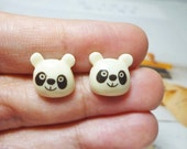 SALE - Cute Panda Stud Earrings