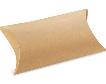1 Large Kraft Pillow Box Sample . 7 x 5.5 x 2