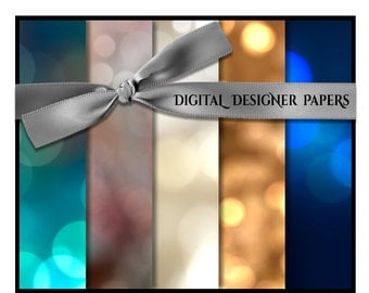 Digital Papers - BOKEH Spectrum - 12x12 Expertly Designed Photography and Scrapbook Backdrops.