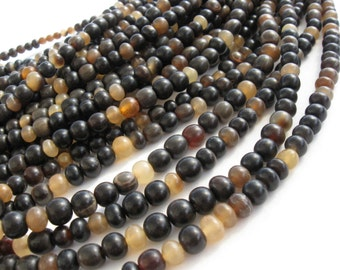 55 Natural horn beads 7mm - eco friendly and natural horn beads (PN403B)