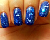 """Color Changing Thermal Nail Polish - """"STARRY NIGHT"""" - Temperature Changing - Custom Blended Polish/Lacquer - 0.5 oz Full Sized Bottle"""