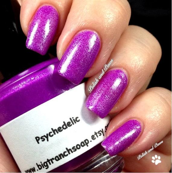 Neon Purple Nail Polish Fluorescent PSYCHEDELIC Free U.S
