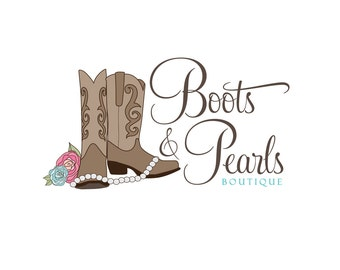 Custom Logo Design, Custom Boutique Logo, Cowboy Boots Logo