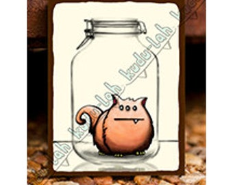 Squppy (Mason Jar Critter Art)