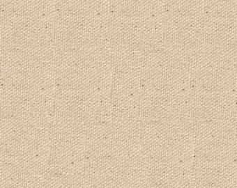Price Reduced!  9 to 10 oz natural duck canvas - 100% cotton - BTY