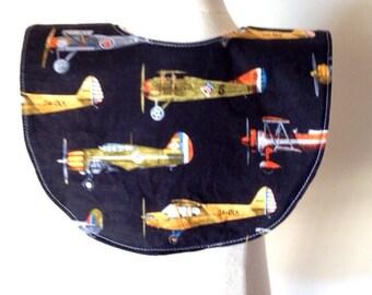 SALE vintage fighter bombers airplanes baby bib