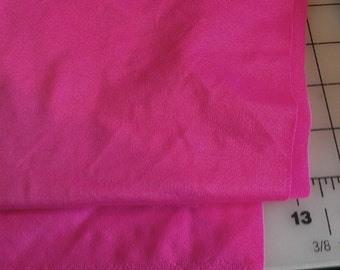 Bright Pink Spandex aprox 1/3yd...... .Pink is almost Neon...camera is terrible..