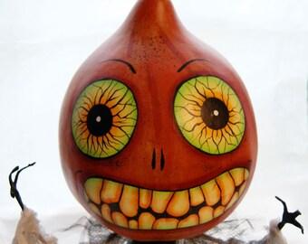 Halloween Gourd Head Figure Haunted Swamp Holiday Home Decor Gourd Doll Figure