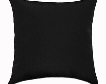 Sunbrella Indoor/Outdoor Pillow, Black Indoor Outdoor Pillow, Black Canvas  Pillow, Solid