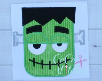 Frankenstein Halloween Applique Design