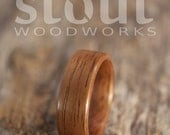 SIZE 11 - Classic French Walnut Bentwood Ring - Handcrafted Wooden Ring