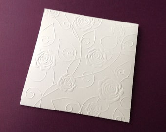 Cd Dvd cases embossed with roses in any color set of 10 perfect for weddings