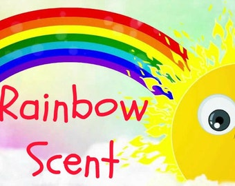 RAINBOW Scented Soy Wax Melts - Unique - Fruit - Berry - Floral - Musk - Flameless Wickless Soy Wax Tarts - Highly Scented - Handmade In USA