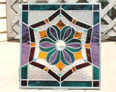 Stained Glass Panel in Jewel Tones