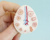 Ovary Brooch Uterus Jewellery Anatomy Jewelry Medical Pin