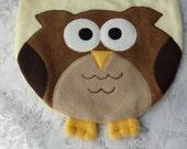 Owl Bib, Infant Baby Bib, Animal Fleece Bib, Animal Bib, Baby Shower Gift, Baby Bib, Newborn Gift