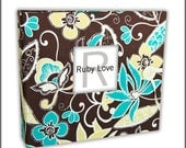 Funky Florals Lime & Teal Album - Ruby Love Modern Baby Memory Book