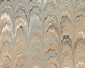 Hand marbled paper