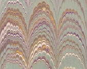 Large sheet of hand marbled paper