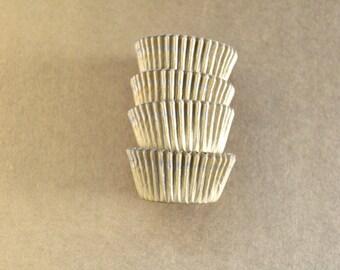 Gold Mini Cupcake Liners 50