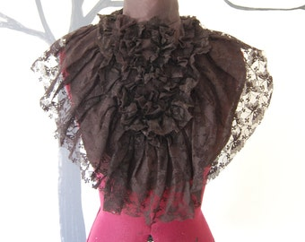 Victorian inspired steampunk goth gothic fashion ascot black lace