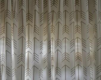 Gray Arrow Curtains Etsy