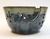 Yarn Bowl XL Ceramic Knitting Extra Large  in Bowl Midnight Blue  contrasting Rim  IN STOCK   featured in VogueKnitting