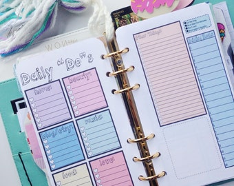 Cute Daily To-Do List *Personal* Size Planner Insert Printable