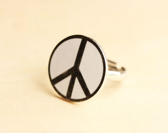 White Peace Ring