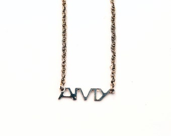 Vintage Name Necklace - Amy