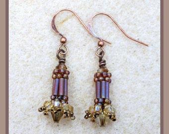 Carnival Earrings (Brown) Jewelry Making KIT