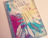 Handpainted Art Journal // 80 Lined pages // Dreamcatcher // Write Your Story