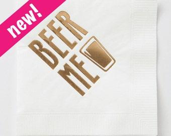 Beer Me Napkin Set