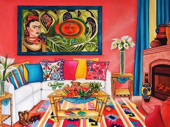 Frida Kahlo House Living Room